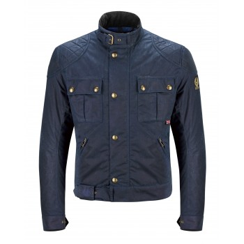 GIACCA BLU NAVY Belstaff BROOKLANDS WAX8oz