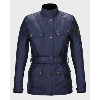 Belstaff CLASSIC LADY JACKET TROPHY WAX6oz BLU NAVY