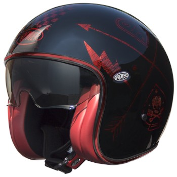 Casque moto PREMIER jet VINTAGE NX RED CHROMED