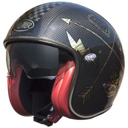 CASQUE PREMIER VINTAGE CARBON NX GOLD CHROMED