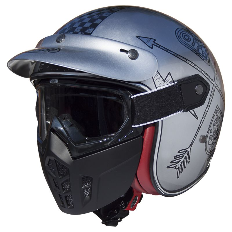 casque moto premier jet mask nx chromed vintage motors. Black Bedroom Furniture Sets. Home Design Ideas