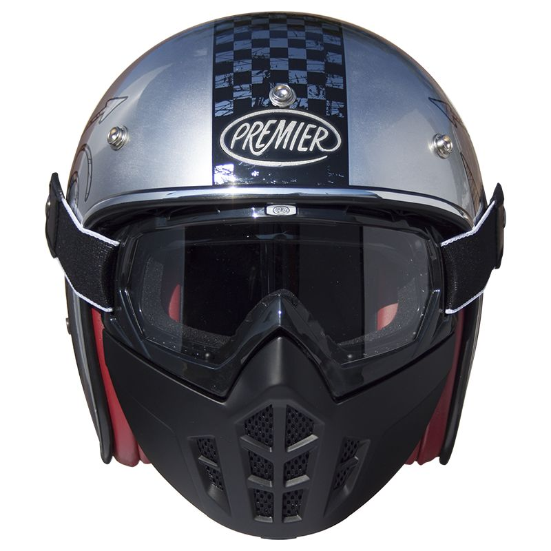 Casque Moto Vintage Premier Jet Mask Nx Chromed