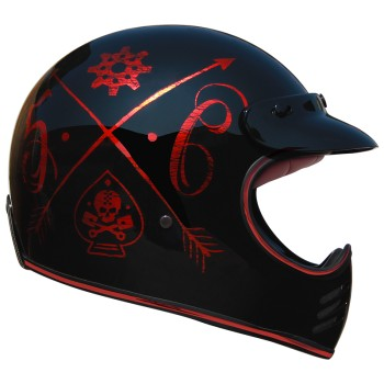 Casque moto PREMIER cross MX NX RED CHROMED