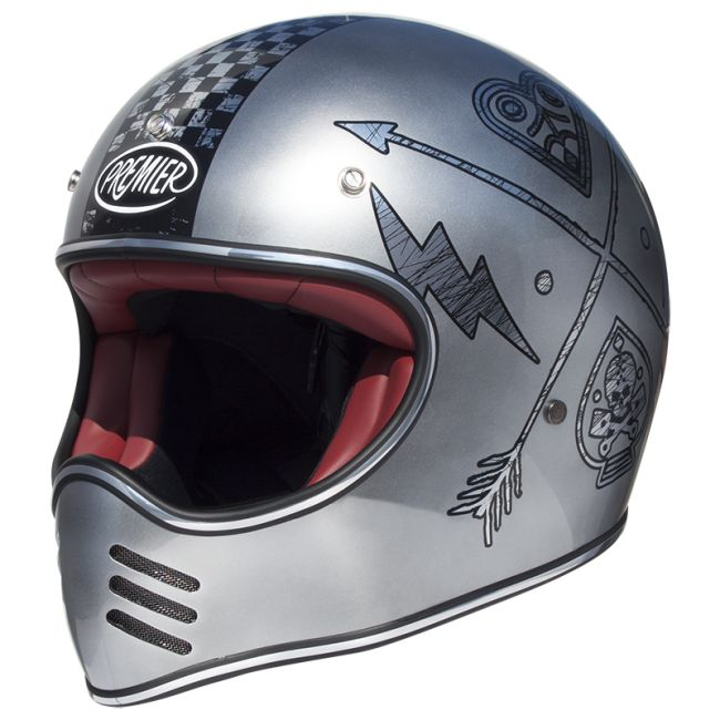 Casque moto PREMIER cross MX FL CHROMED
