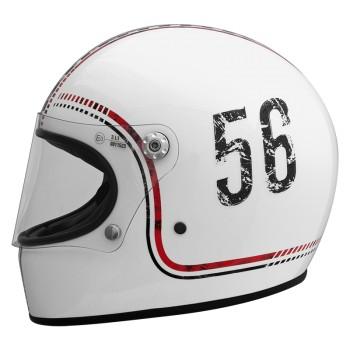 Casque moto PREMIER intégral TROPHY FL8 BLANC