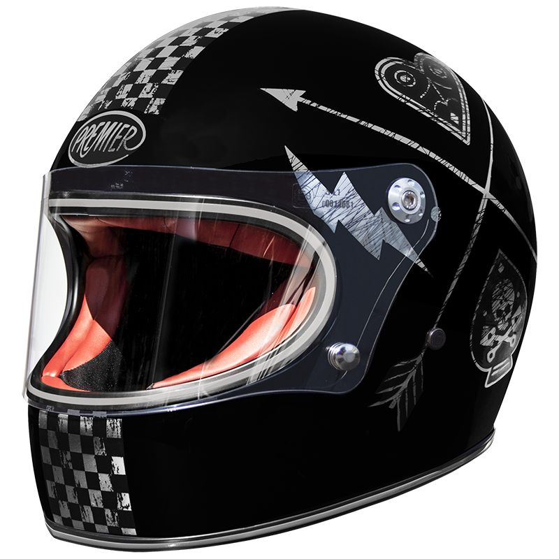 casque moto premier int gral trophy nx silver chromed. Black Bedroom Furniture Sets. Home Design Ideas