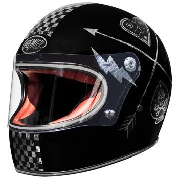 Casque moto PREMIER intégral TROPHY NX SILVER CHROMED