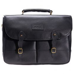 Sacoche moto Barbour LEATHER BRIEFCASE BAG