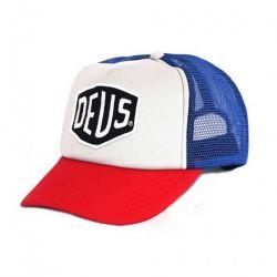 Cap Deus ex Machina Baylands TRUCKER BLUE / RED