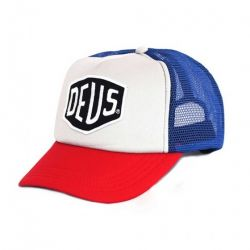 Casquette Deus ex Machina BAYLANDS TRUCKER BLEU/ROUGE