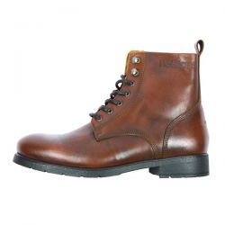 Bottes moto homme Helstons CITY Cuir Aniline Tan