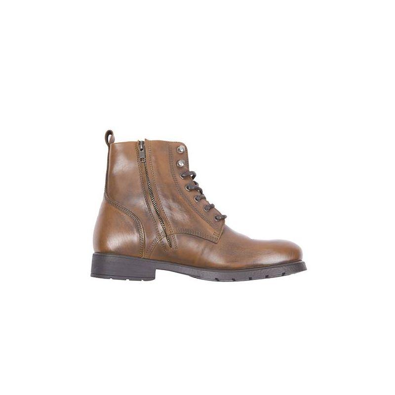Bottes Helstons City cuir tan chaussures moto vintage ville ce