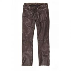Pantaloni di pelle Helstons CORDEN Rag Brown