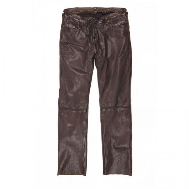pantalon moto homme helstons corden cuir rag marron. Black Bedroom Furniture Sets. Home Design Ideas