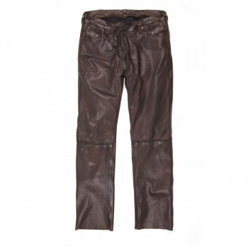 Pantalon Helstons CORDEN Cuir Rag Marron