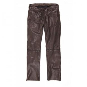 Pantalones de cuero Helstons CORDEN trapo de Brown
