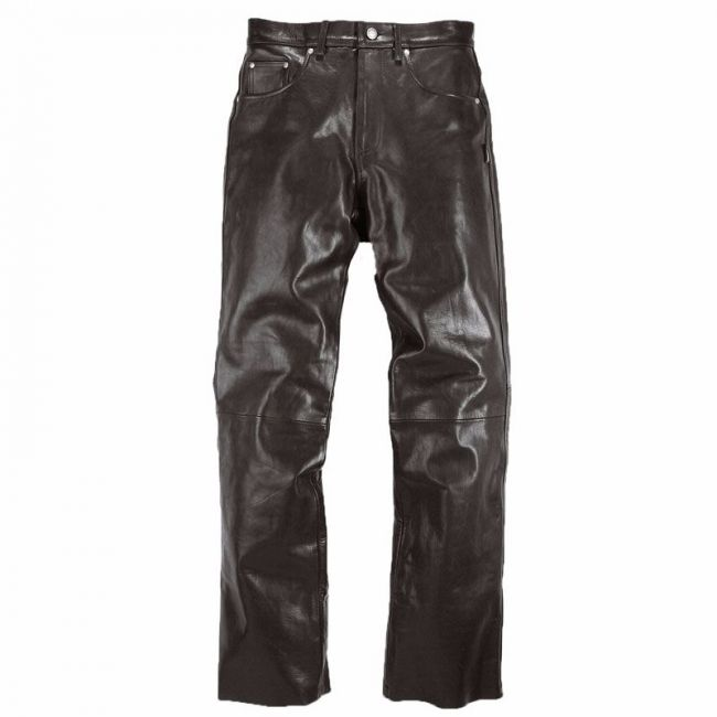 Pantalon moto homme Helstons CORDEN Cuir Rag Noir