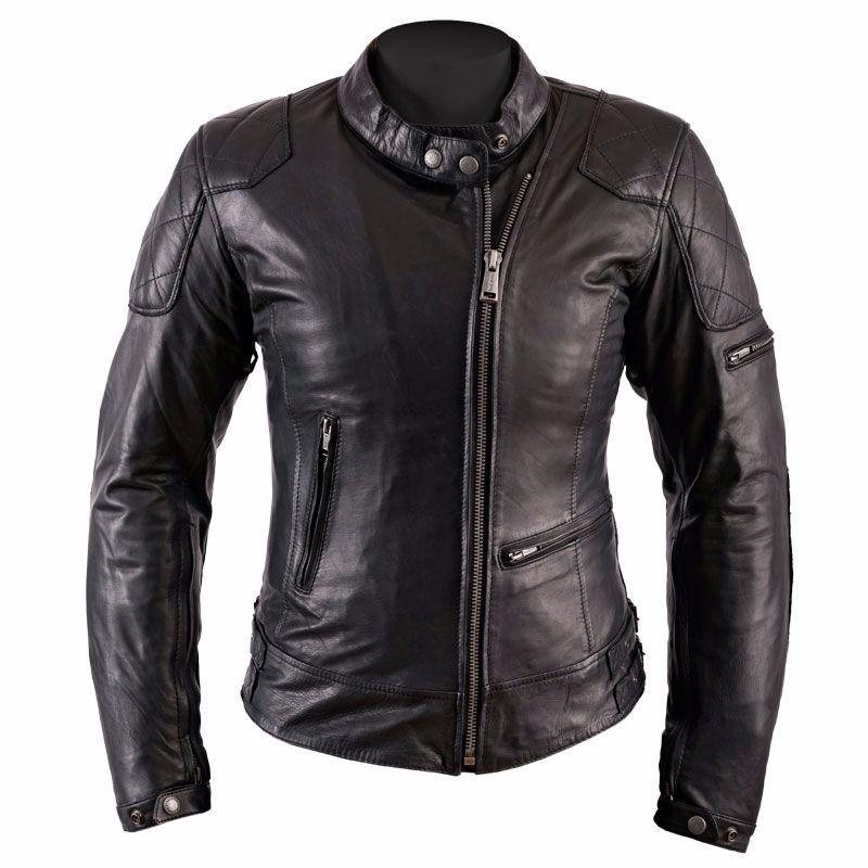 blouson moto femme helstons ks 70 cuir rag noir vintage. Black Bedroom Furniture Sets. Home Design Ideas