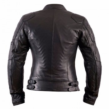 Blouson moto femme Helstons KS 70 Cuir Rag Noir