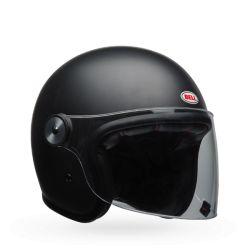 Vintage moto casco BELL RIOT nero opaco