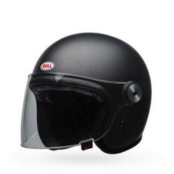 casco de la motocicleta de la vendimia CAMPANA RIOT Mate Negro