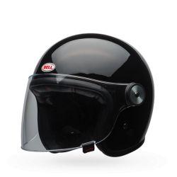 casco de la motocicleta de la vendimia CAMPANA RIOT Negro