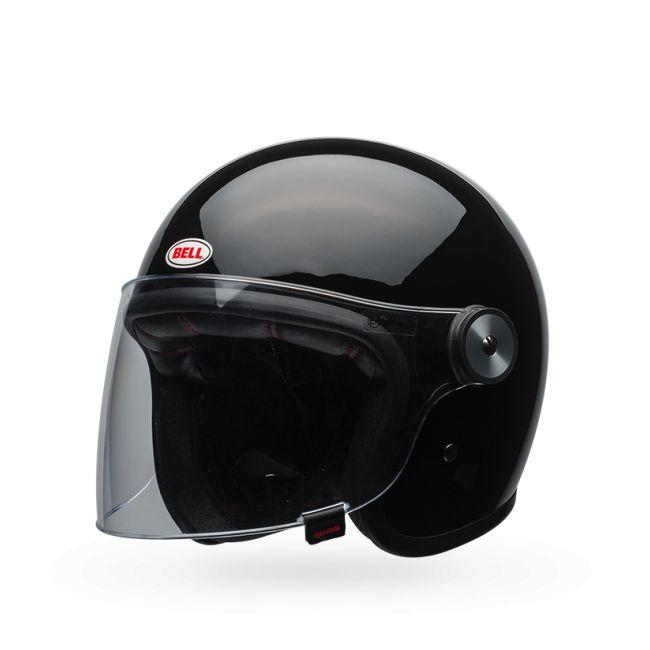Casque jet moto retro BELL RIOT Noir