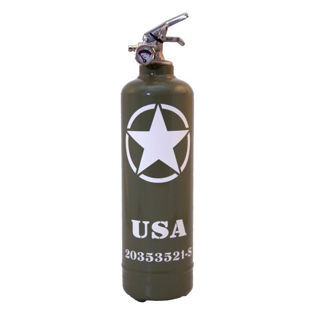 Extincteur vintage FIRE DESIGN USA WILLYS