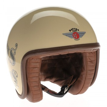 Casque moto retro Davida 80020 WHEELS AND WAVES