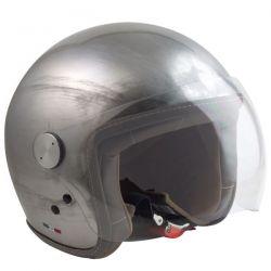 VINTAGE Motorradhelm JET MAX - SCRATCH CROMO