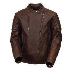 jaqueta de couro ROLAND SANDS Tobacco Clash