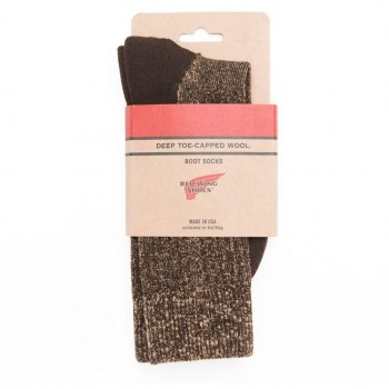 CHAUSSETTES RED WING DEEP TOE CAPPED WOOL- MARRON