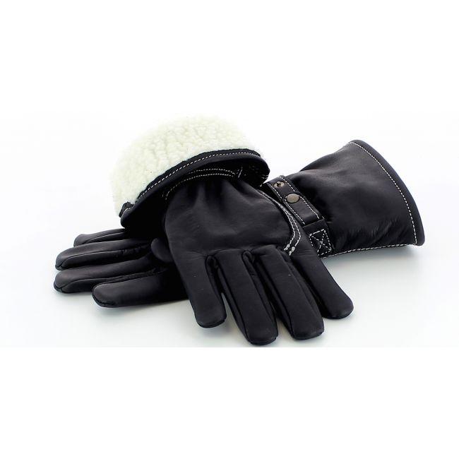 Kytone Doublés - Gants cuir Kytone doublés Black CE