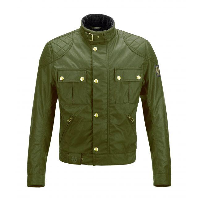 BLOUSON MOTO BELSTAFF - Brooklands Waxed 10oz Cotton British Green