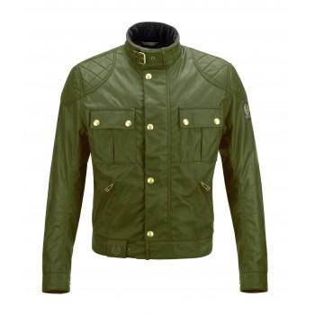 Chaqueta Belstaff - Brooklands 8 oz algodón encerado verde británica