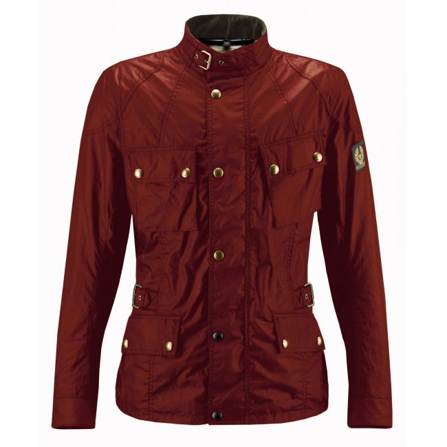 Veste Moto BELSTAFF CROSBY WAX6oz BRITISH Red Cardinal