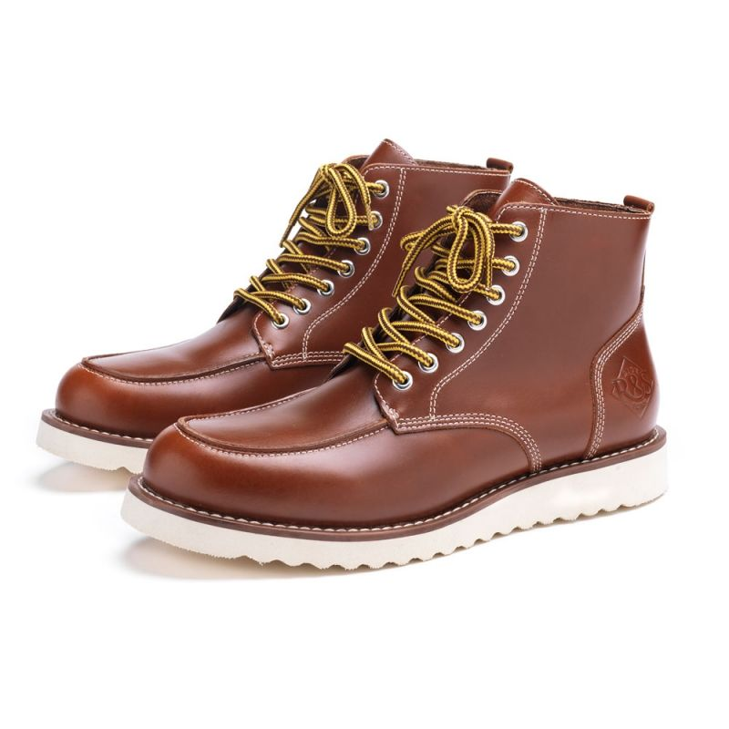bottes moto vintage ride and sons desert moc mid boots marron. Black Bedroom Furniture Sets. Home Design Ideas