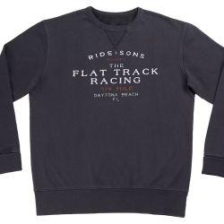 Sweatshirt Fahrt And Sons Flat Track Schweiß-washed schwarz