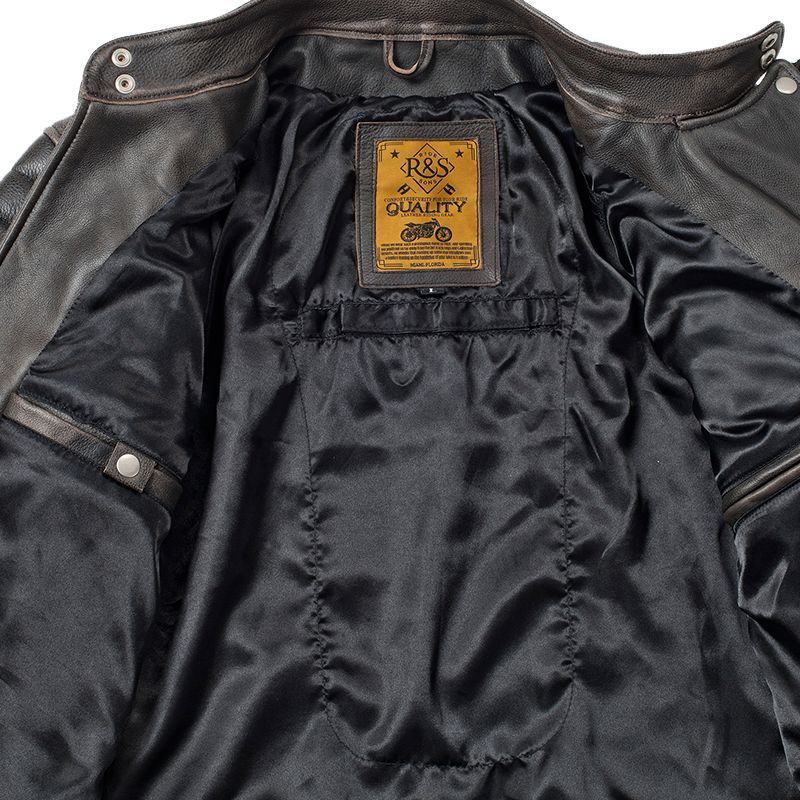 blouson moto vintage ride and sons heritage racing cuir. Black Bedroom Furniture Sets. Home Design Ideas