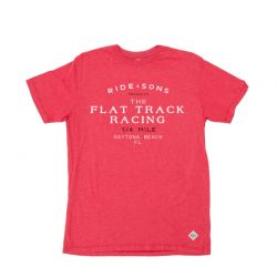 T-Shirt Fahrt And Sons Flat Track T-Shirt rot
