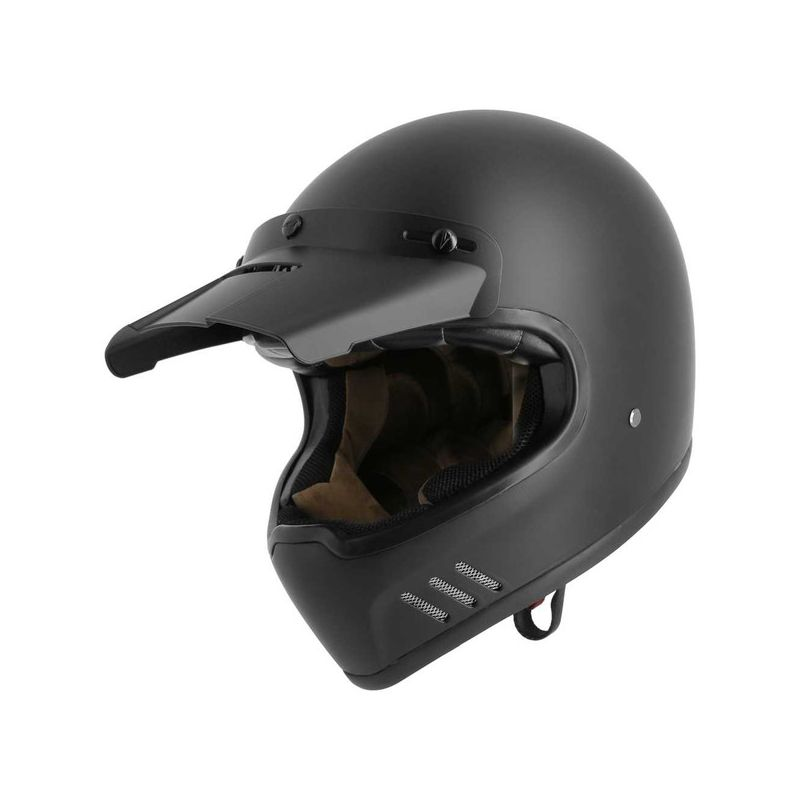 casque moto int gral vintage astone super retro matt noir. Black Bedroom Furniture Sets. Home Design Ideas