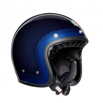Casque moto jet vintage X70 AGV E2205 MULTI TROFEO BLUE