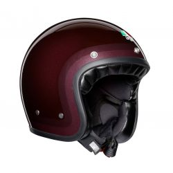 Casque moto jet vintage X70 AGV E2205 MULTI TROFEO PURPLE RED