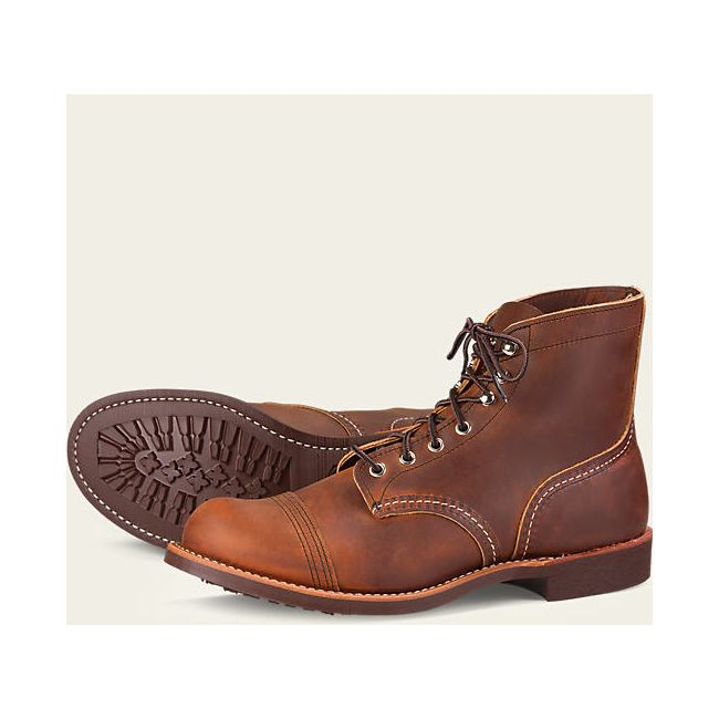 Chaussures Red Wing 8085 Iron Ranger Marron Vieilli