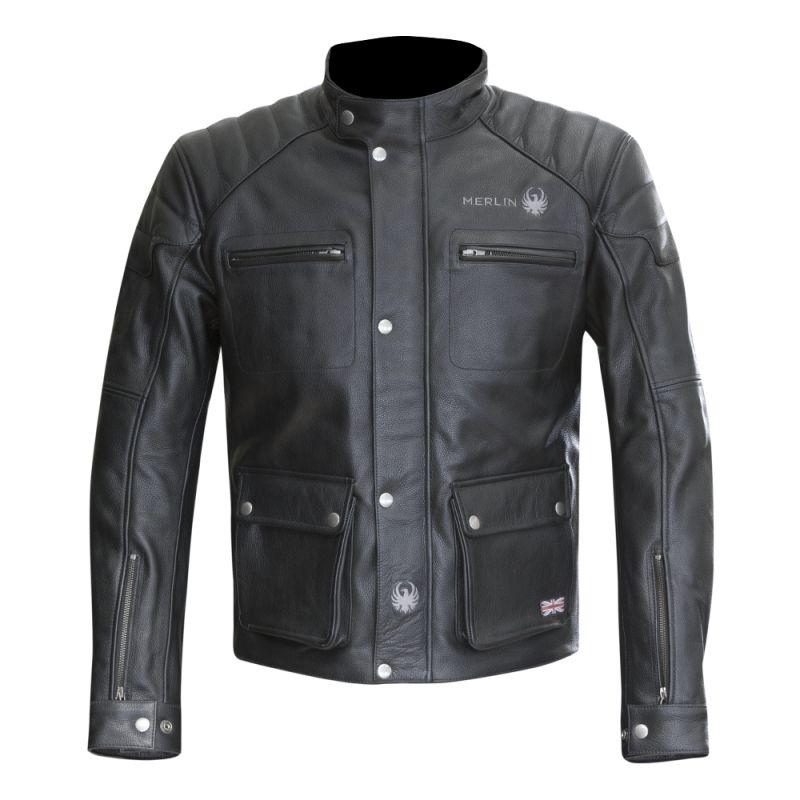 blouson moto vintage merlin cuir merlin keele leather jacket homme. Black Bedroom Furniture Sets. Home Design Ideas