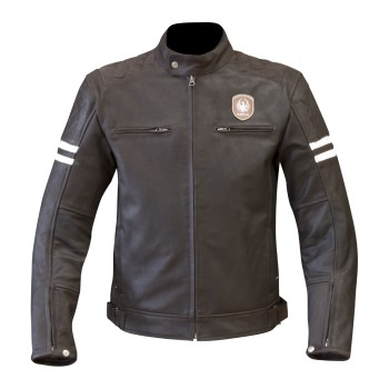 VESTE CUIR VINTAGE MERLIN HIXON LEATHER JACKET HOMME