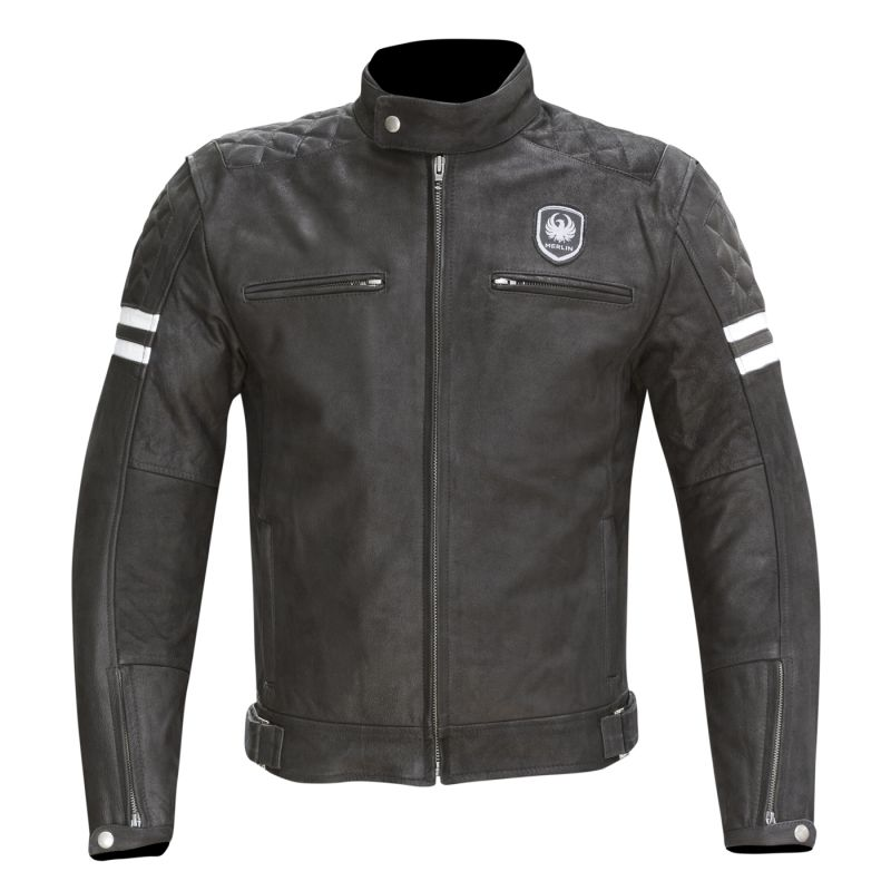 blouson moto vintage merlin cuir hixon leather jacket homme. Black Bedroom Furniture Sets. Home Design Ideas