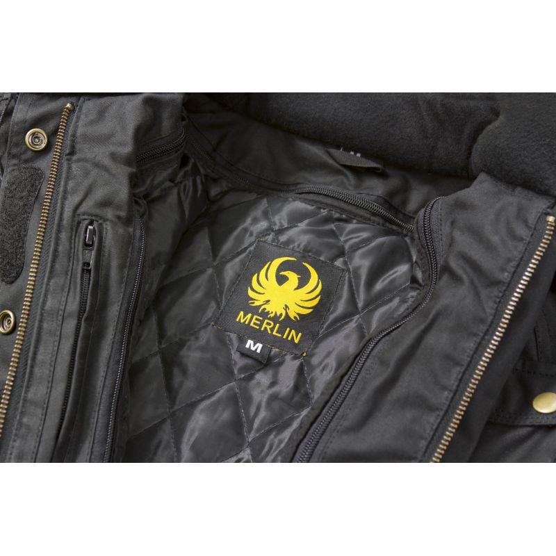 Blouson Moto Femme Merlin Textile Merlin Ashley Wax Jacket