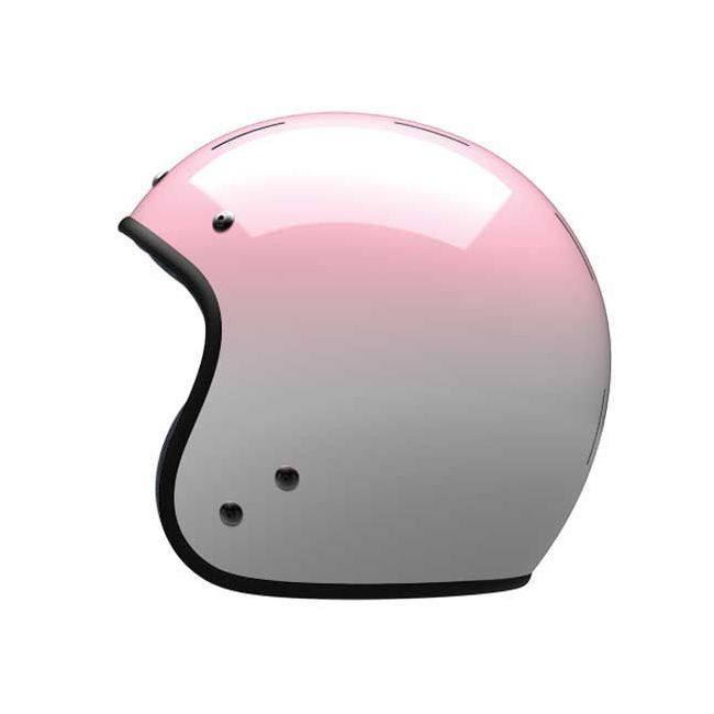 CASQUE MOTO JET VINTAGE LEATHER GRADIENT - VELDT