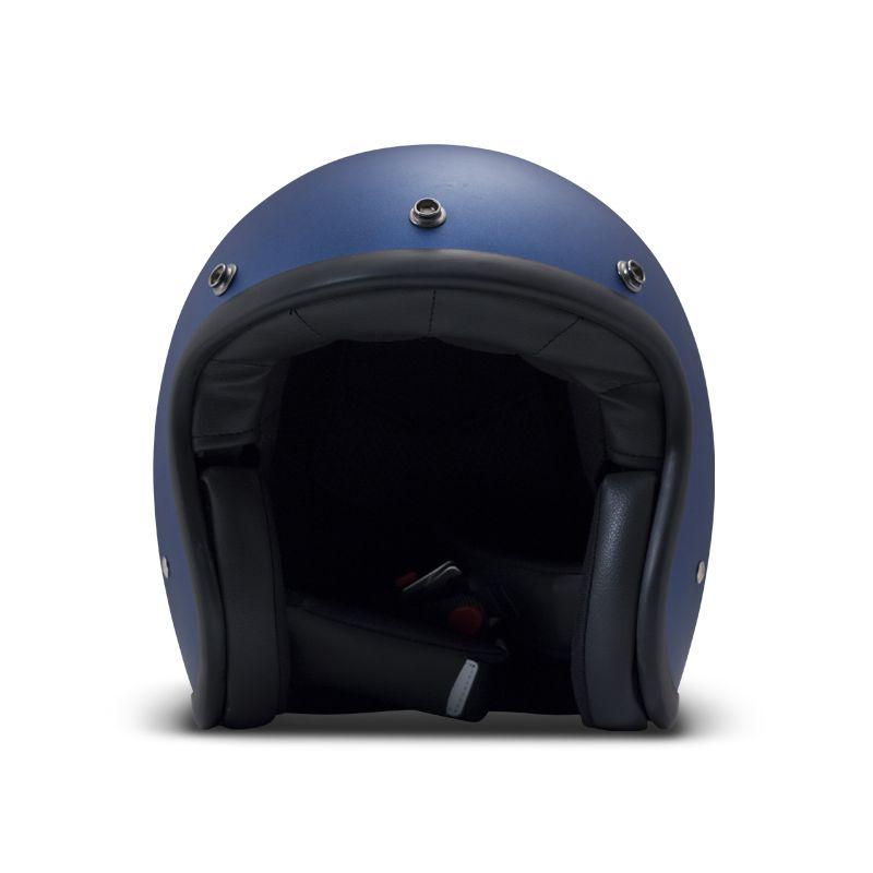 casque vintage moto jet metallic blue dmd vintage motors. Black Bedroom Furniture Sets. Home Design Ideas